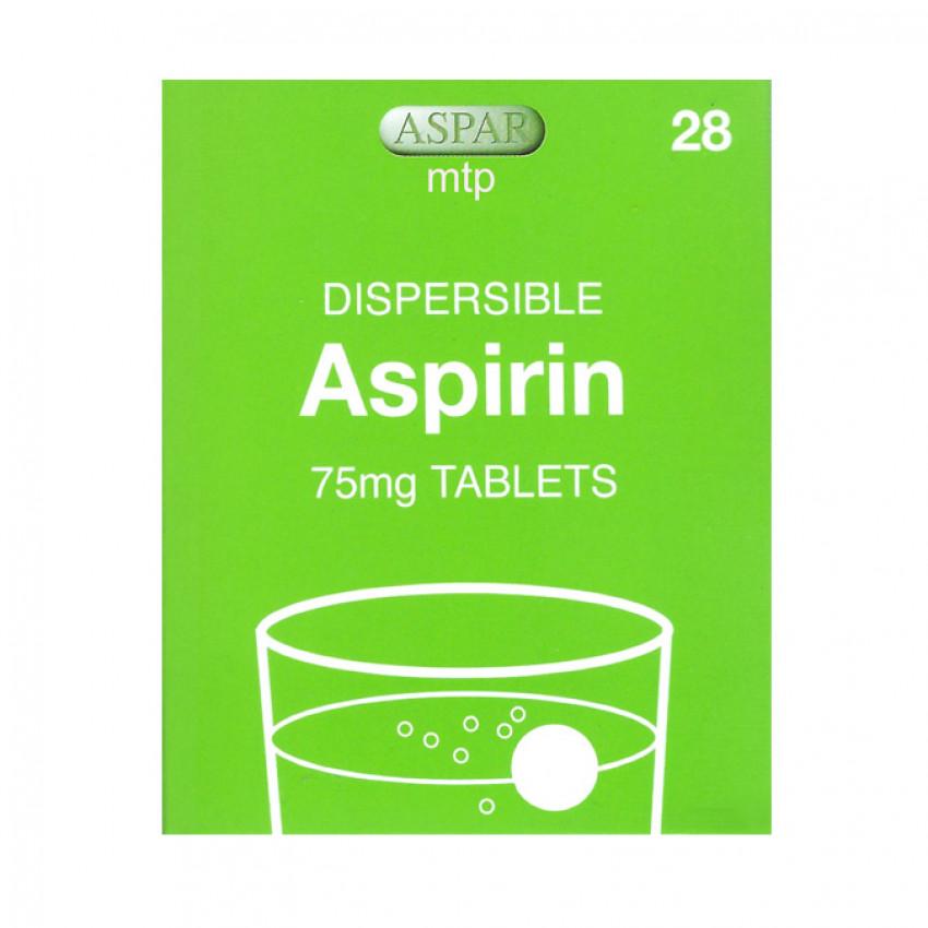 Aspirin 75mg Dispersible Tablets 28