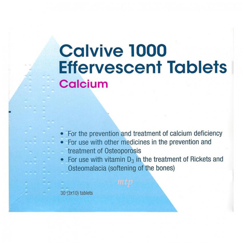 Calvive 1000 Effervescent Tablets 30