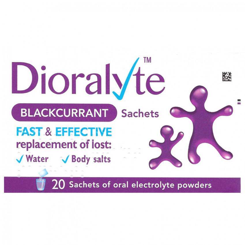 Dioralyte Blackcurrant Sachets 20