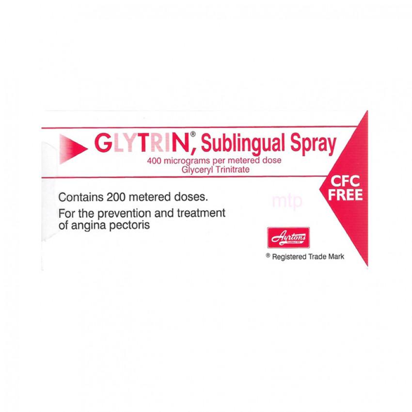 Glytrin (Glyceryl Trinitrate) Sublingual Spray 400mcg 200 dose