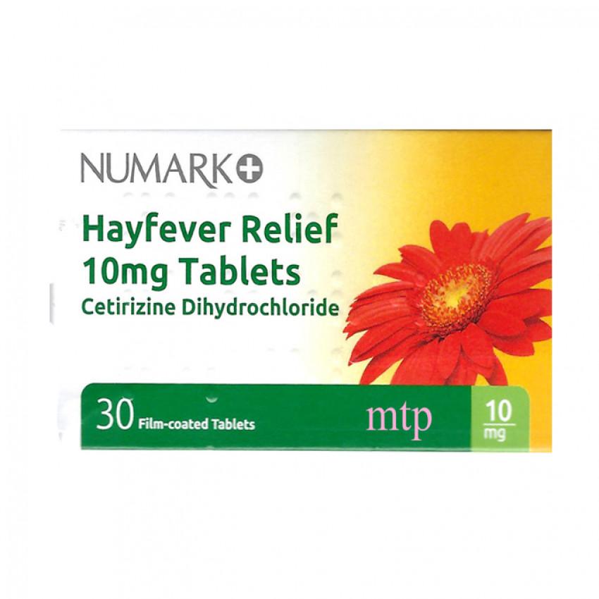 Numark Hayfever Relief (Cetirizine) 10mg Tablets 30
