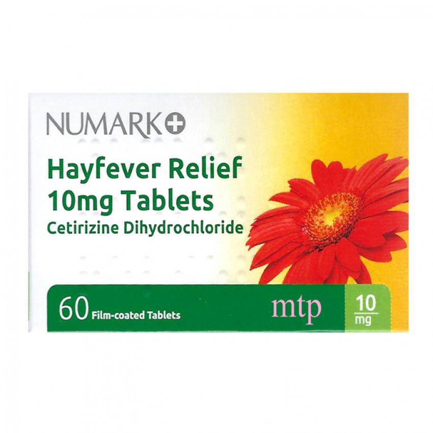 Numark Hayfever Relief (Cetirizine) 10mg Tablets 60