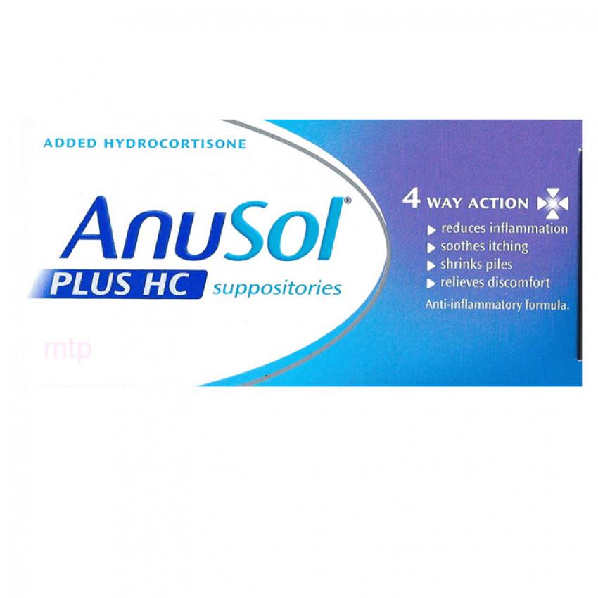 Anusol Plus HC Suppositories 12