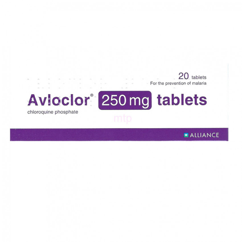 Avloclor (Chloroquine phosphate) 250mg Tablets 20