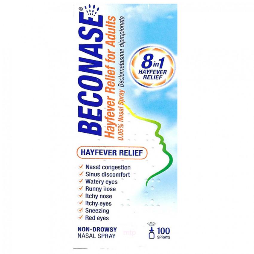 Beconase Hayfever Relief for Adults Nasal Spray (100 sprays)