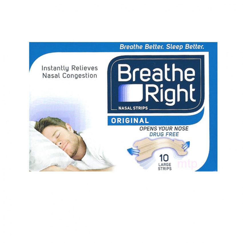 Breathe Right Nasal Strips Original Large 10