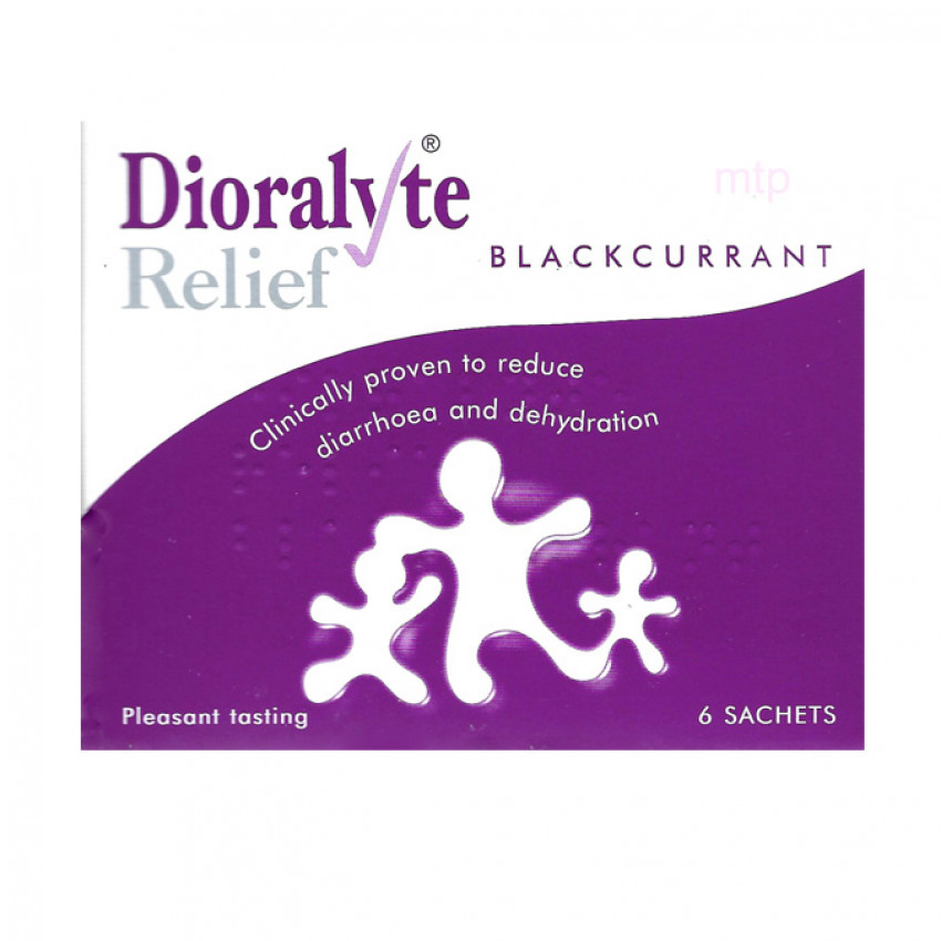 Dioralyte Relief Blackcurrant Sachets 6