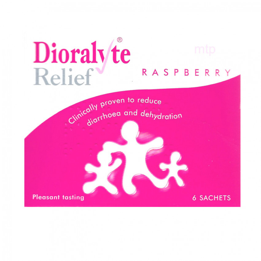 Dioralyte Relief Raspberry Sachets 6