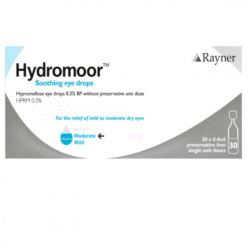 Hydromoor Single Dose Eye Drops 0.4ml 30