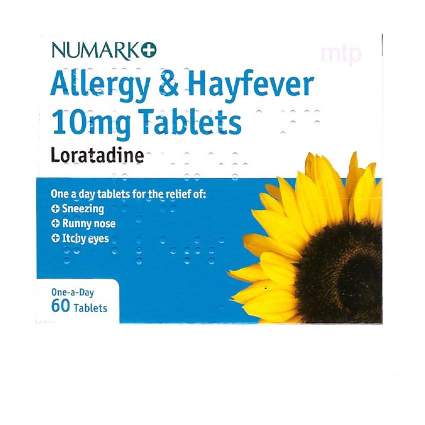 Numark Non-Drowsy Allergy Relief (Loratadine) Tablets 60