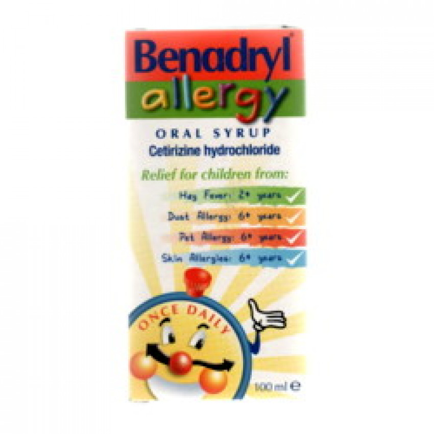 Benadryl Allergy Oral Syrup 100ml