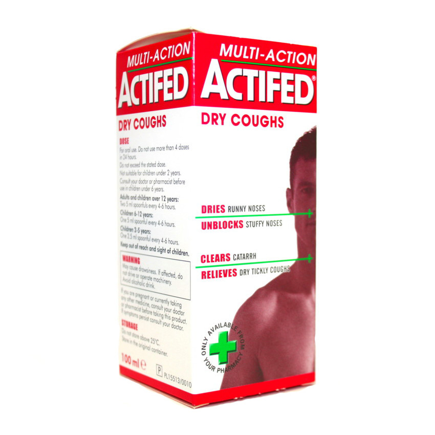 Actifed Multi Action Dry Cough Syrup 100ml
