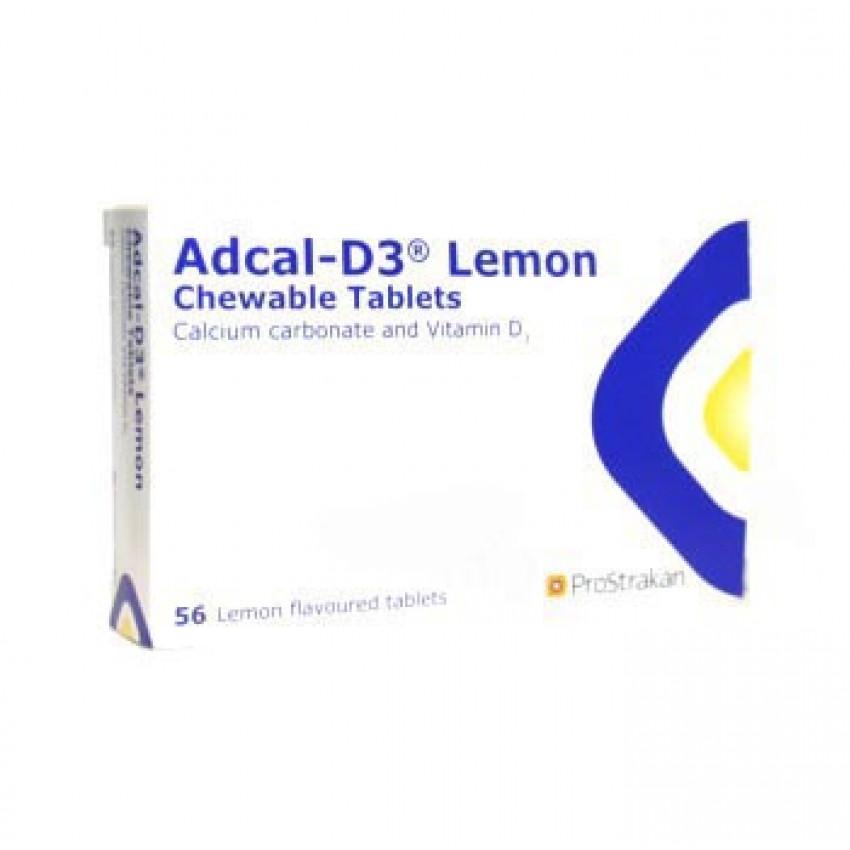 Adcal D3 Lemon Chewable Tablets 56