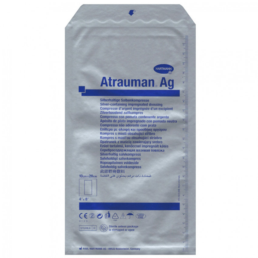 Atrauman AG Silver (499575) 10cm x 20cm Pack of 10