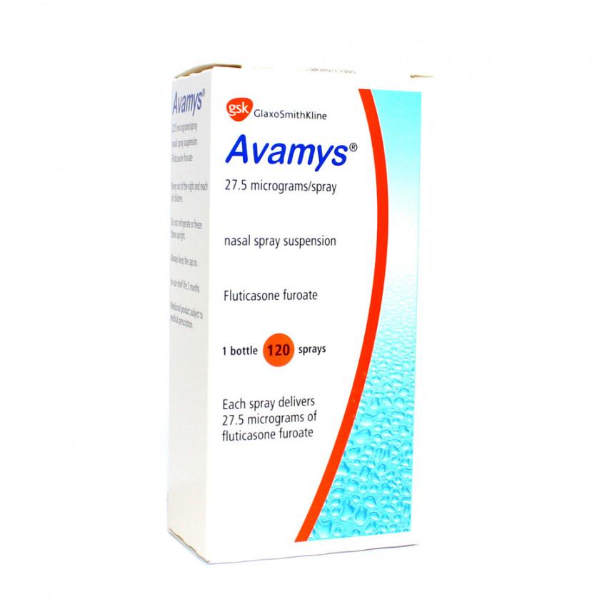 Avamys Nasal Spray 120 Dose 27.5mcg UK