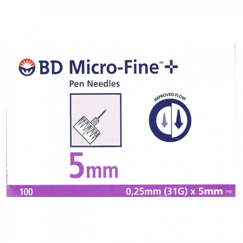 BD Micro-fine Plus Pen Needles 5mm 31G 0.25mm 100