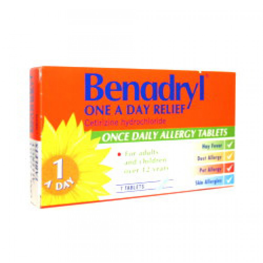 Benadryl One a Day Relief Tablets 7