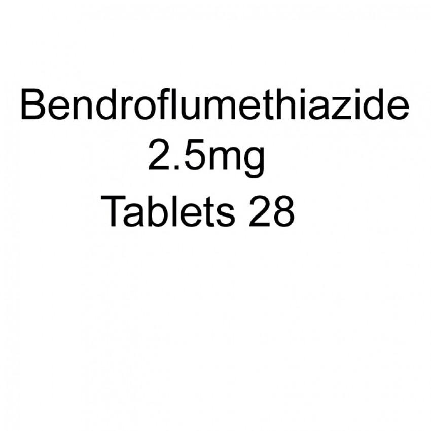 Bendroflumethiazide 2.5mg Tablets 28 UK
