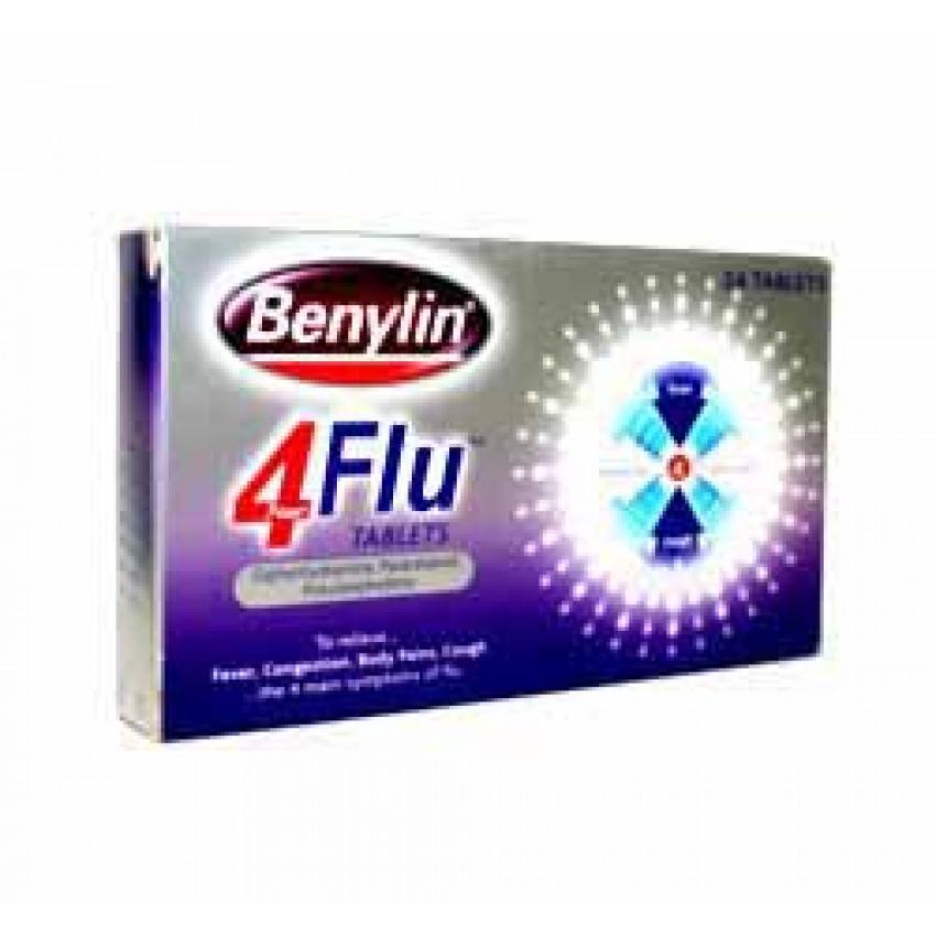 Benylin 4 Flu Tablets 24