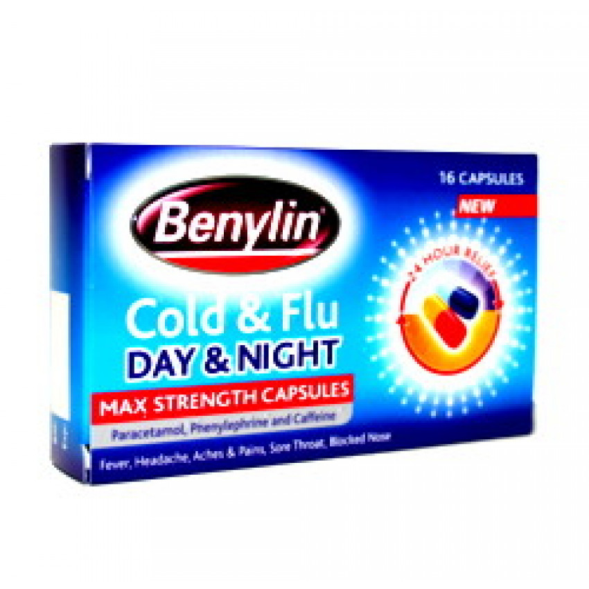 Benylin Cold and Flu Max Strength Capsules 16