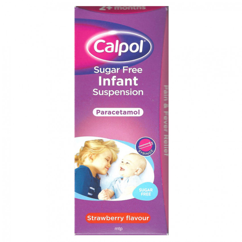 Calpol Sugar Free Infant Suspension strawberry 200ml