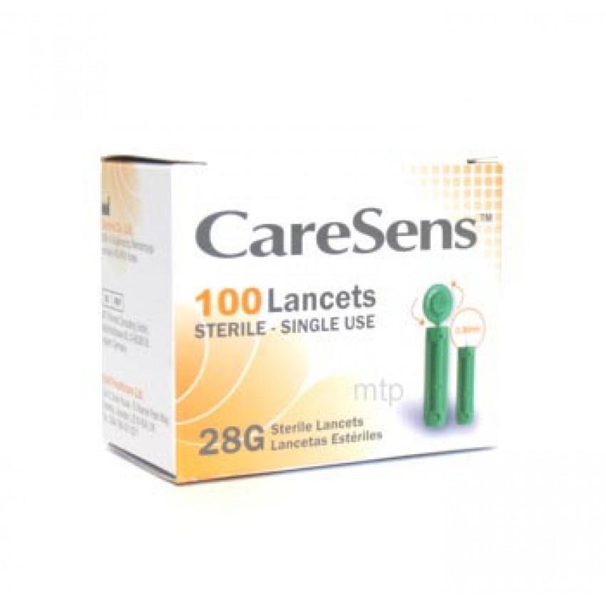 Caresens Lancets 28G 0.36mm Sterile 100