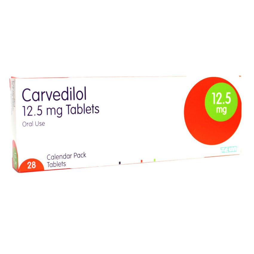Carvedilol 12.5mg Tablets 28