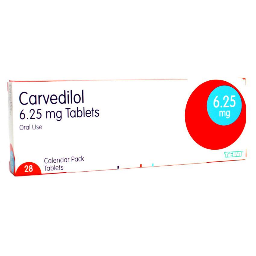 Carvedilol 6.25mg Tablets 28