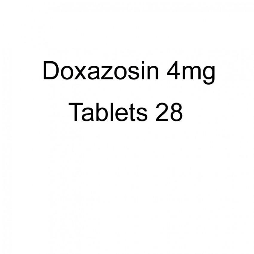 Doxazosin 4mg Tablets 28