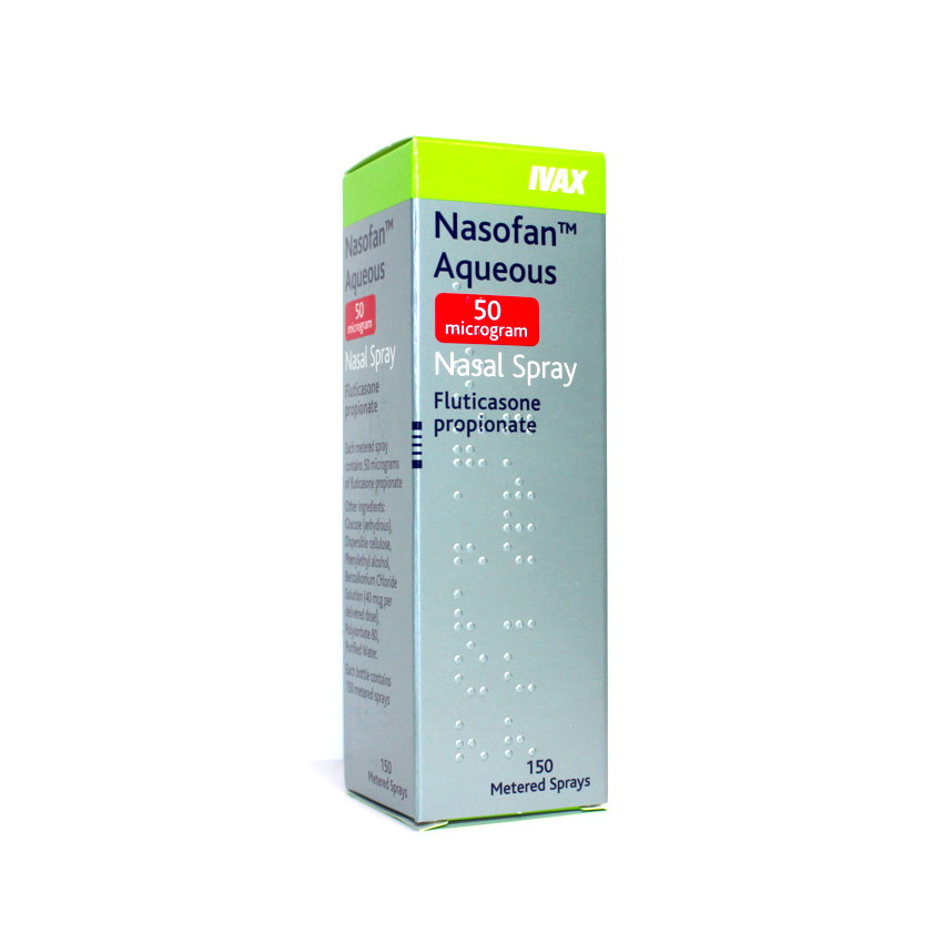Fluticasone (Nasofan) 50mcg Aqueous Nasal Spray 150 Sprays