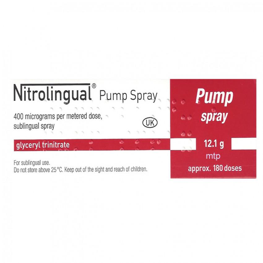Nitrolingual (Glyceryl Trinitrate) Pump Spray 400mcg 180 doses