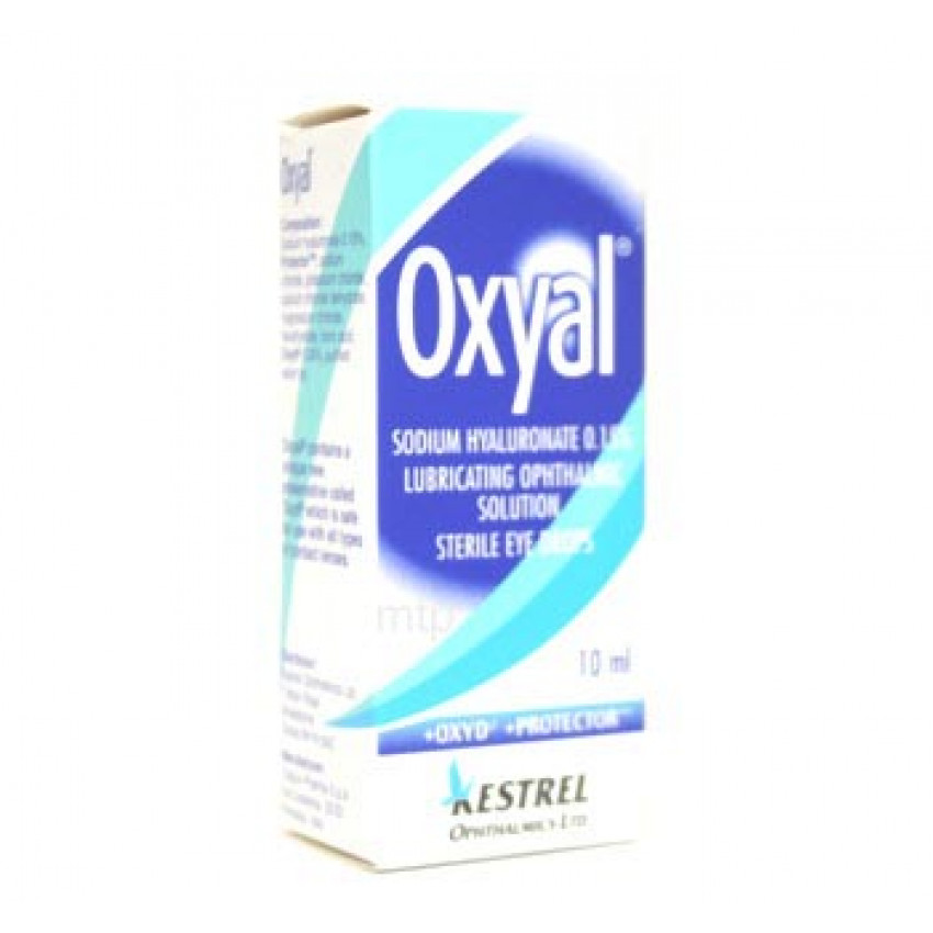 Oxyal Lubricating Sterile Eye Drops 10ml