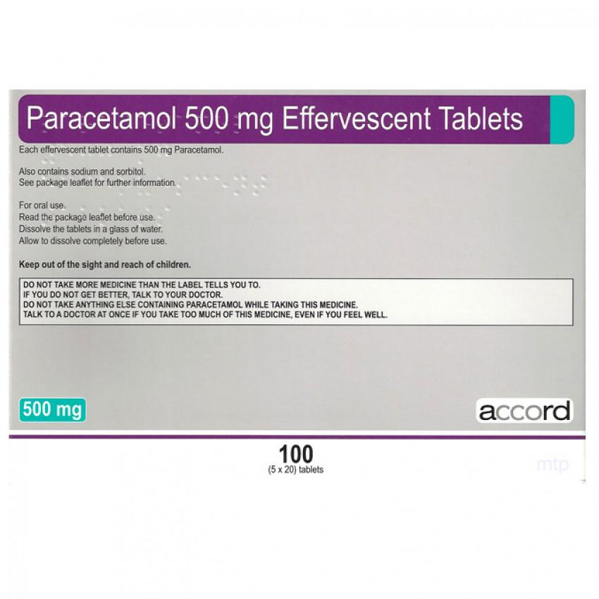 Paracetamol 500mg Soluble Tablets 100 Accord