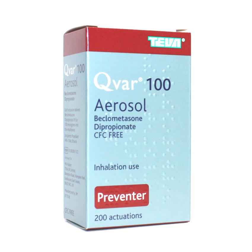 Qvar (Beclometasone) Inhaler 100mcg 200 dose UK