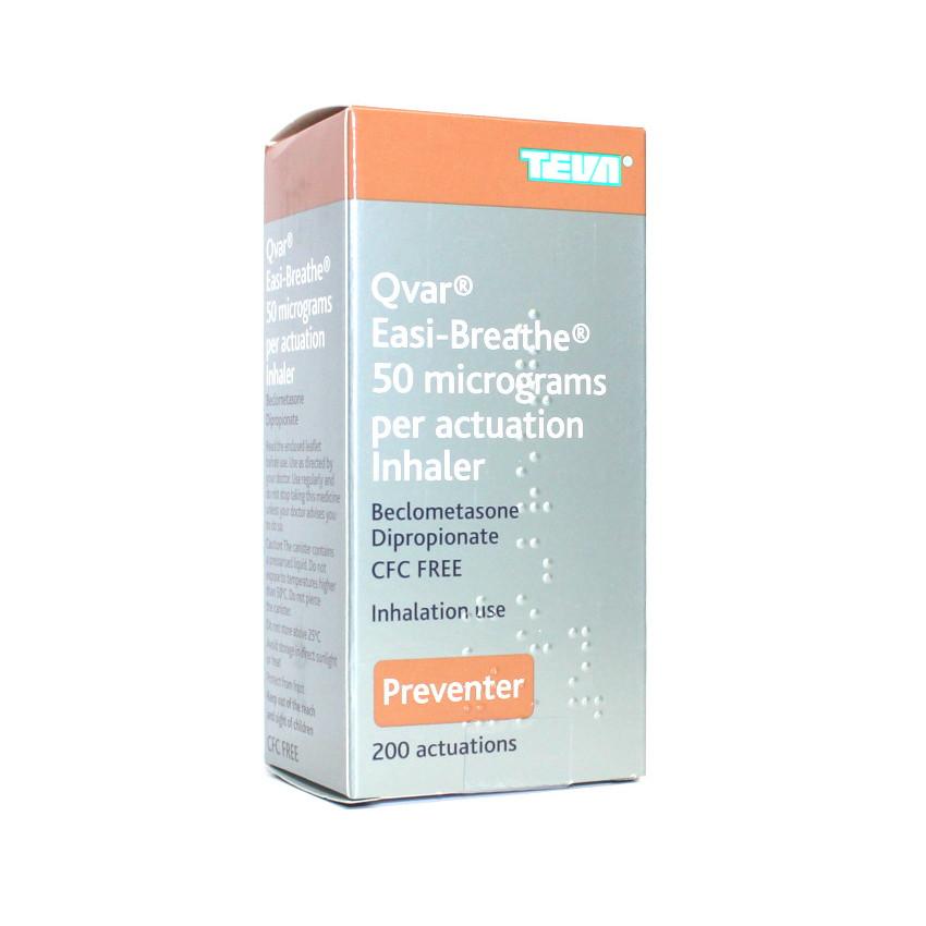 Qvar (Beclometasone) Easi-Breathe Inhaler 50mcg 200 dose UK