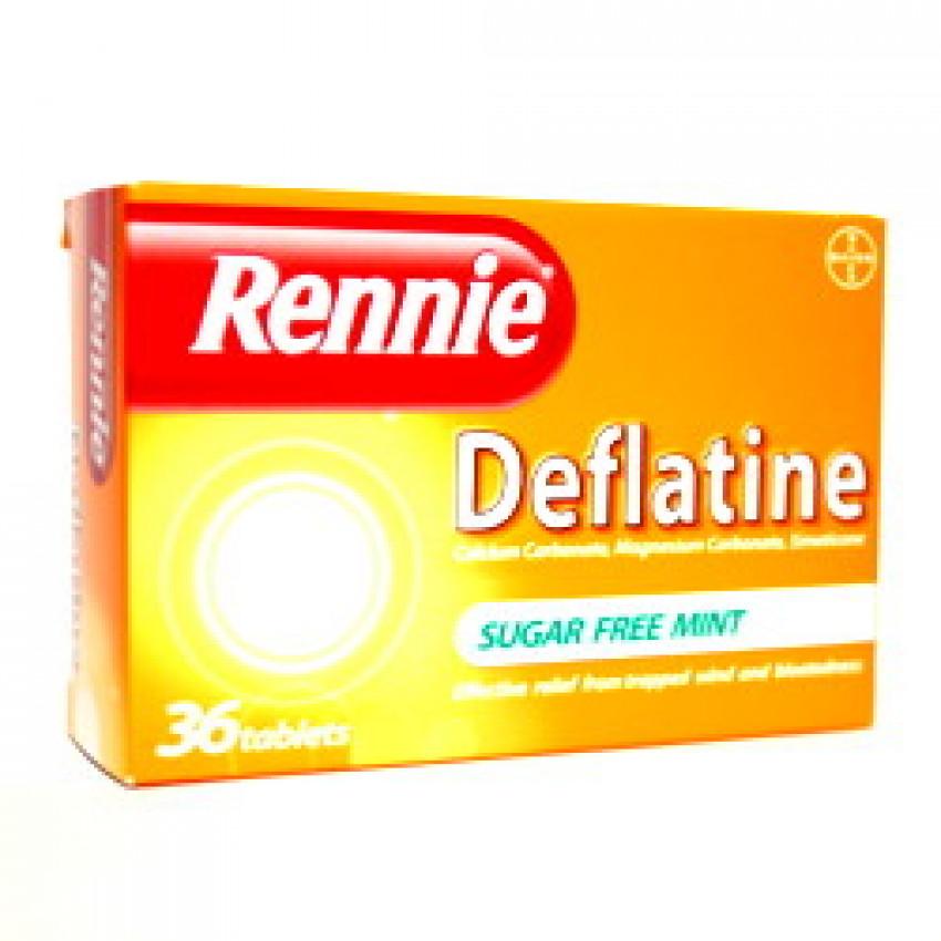 Rennie Deflatine S/F Mint Tablets 36