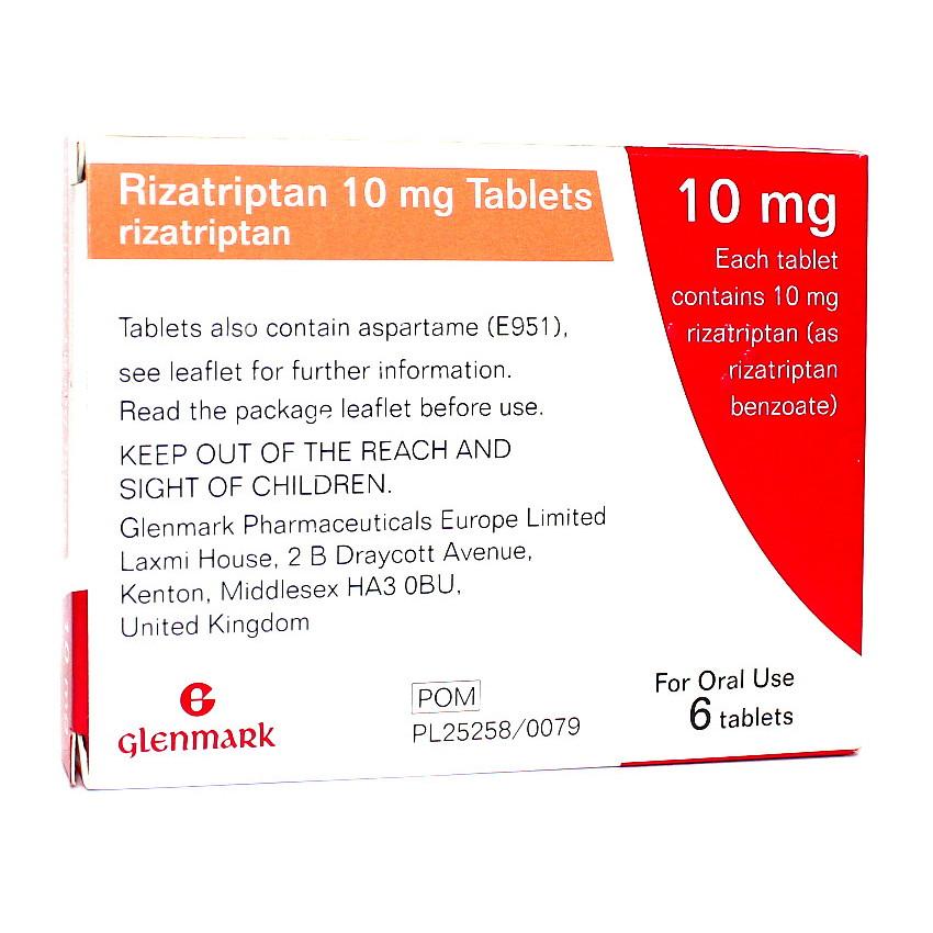 Rizatriptan 10mg Tablets 6