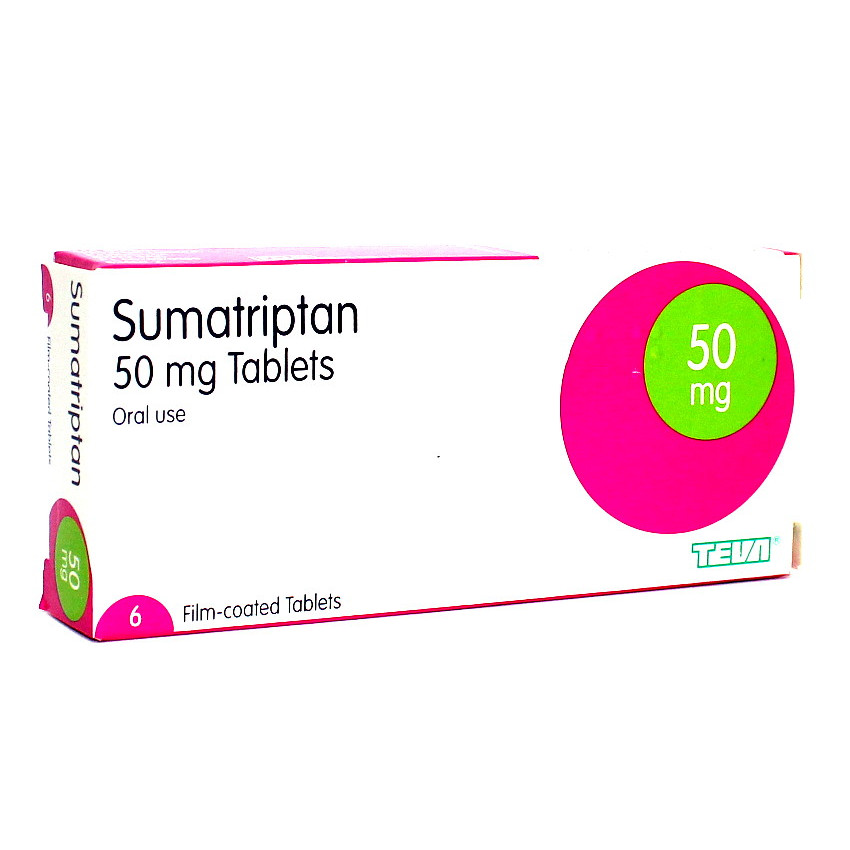 Sumatriptan 50mg Tablets 6