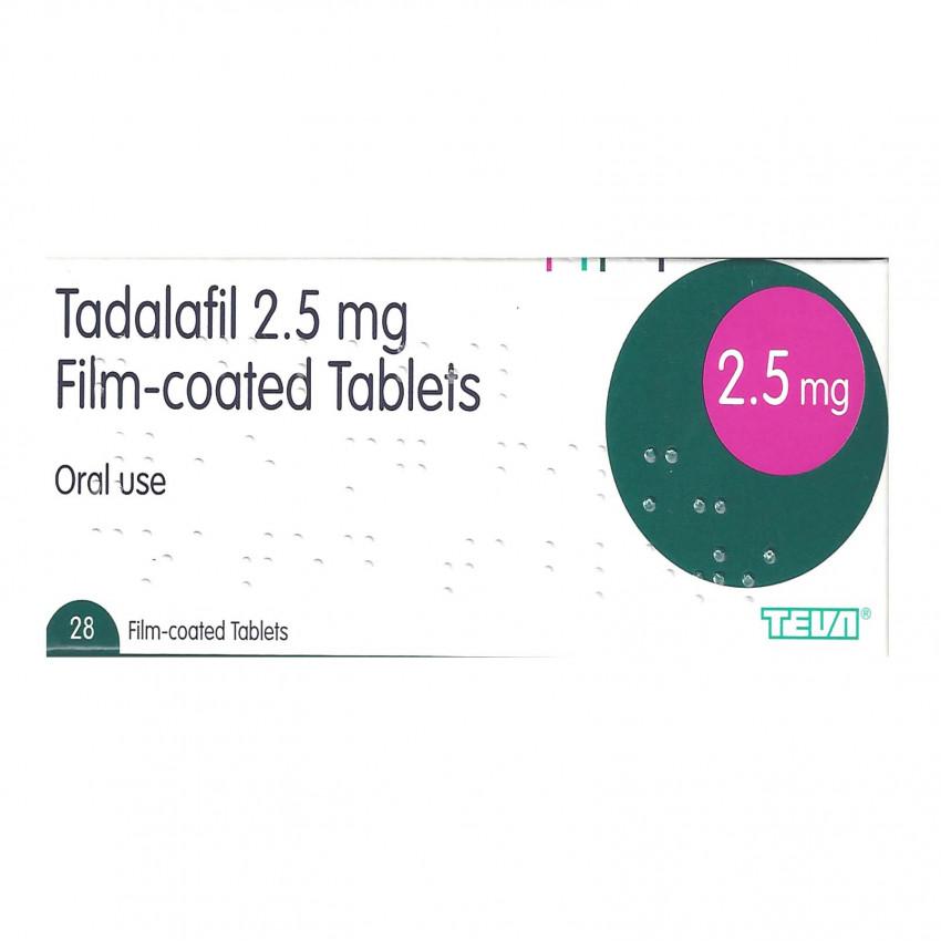 Tadalafil 2.5mg Tablets 28