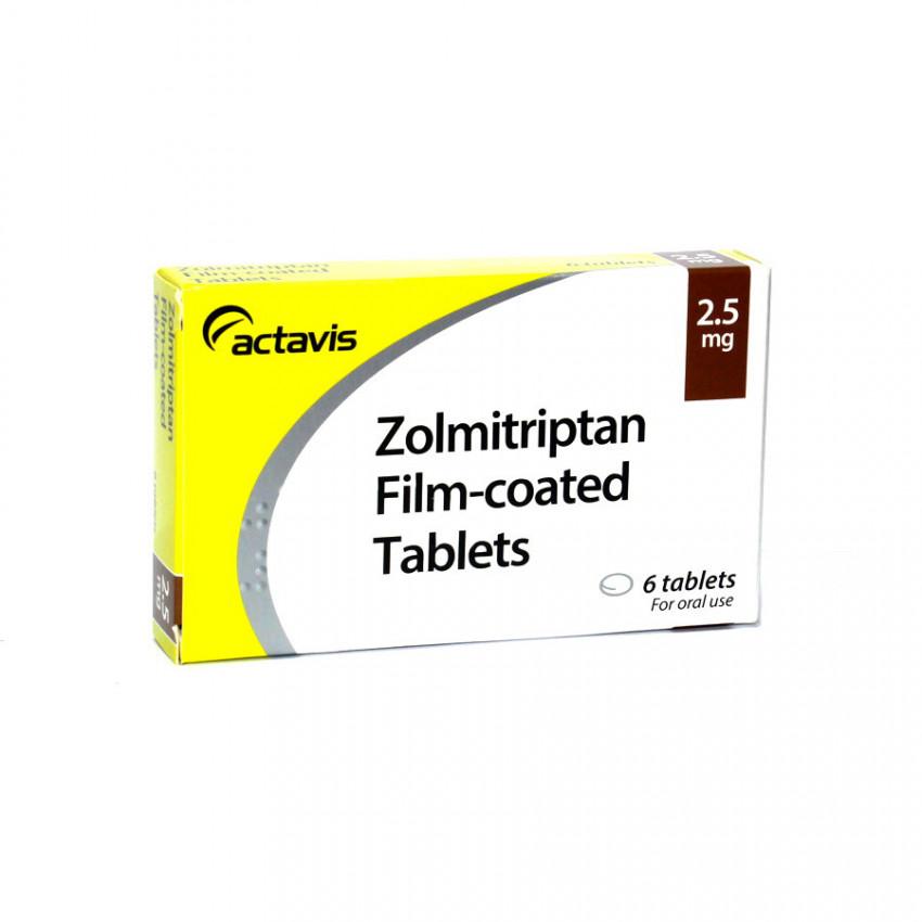 Zolmitriptan 2.5mg Tablets 6