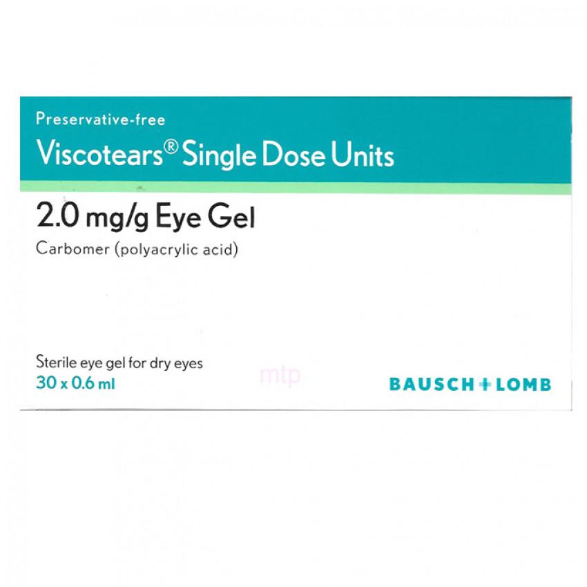 Viscotears Single Dose Units 2mg/g Eye Gel 0.6ml x 30